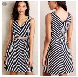 Blue striped sleeveless dress (anthropologie)